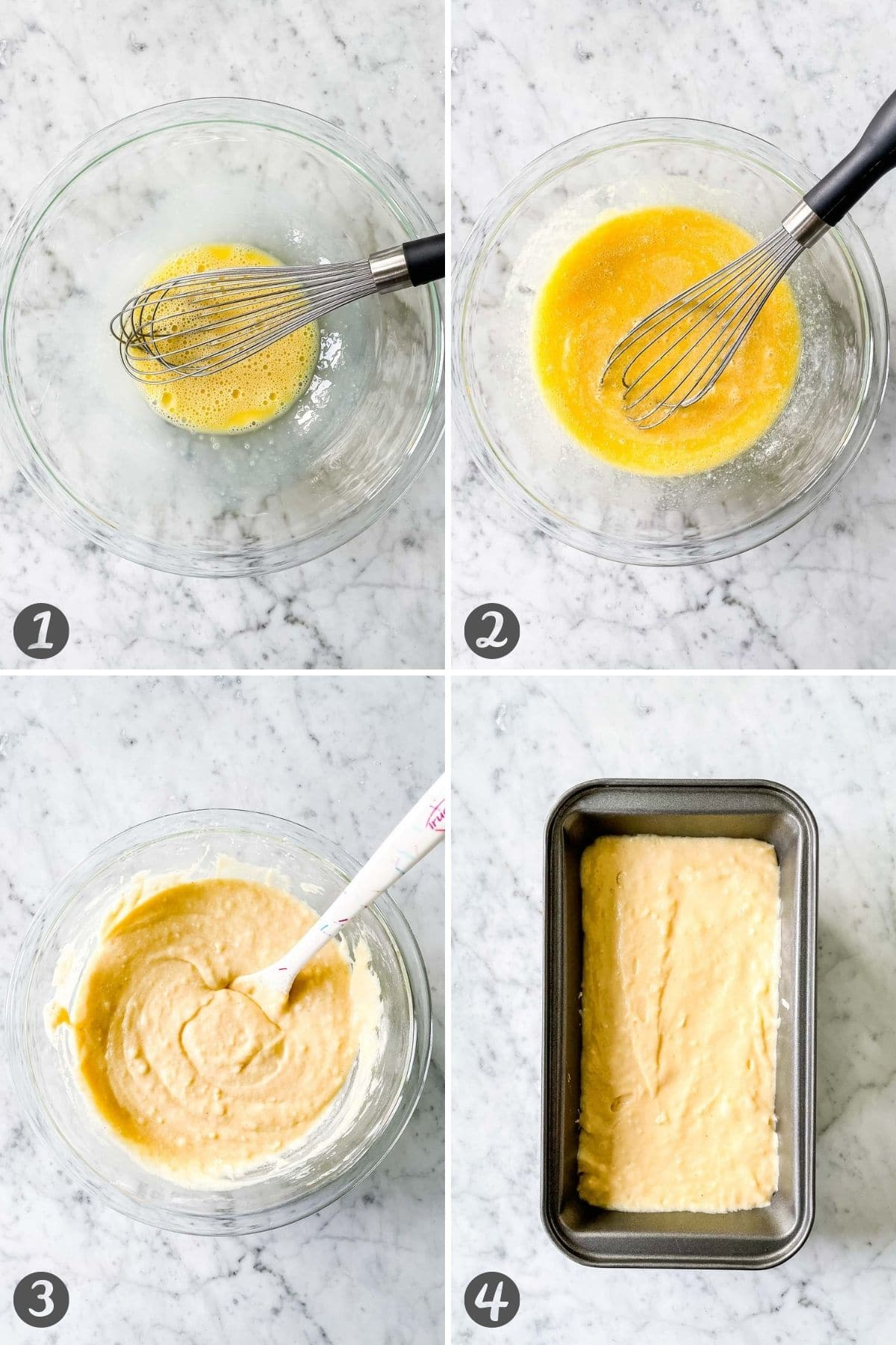 Step by step collage for how to make this recipe