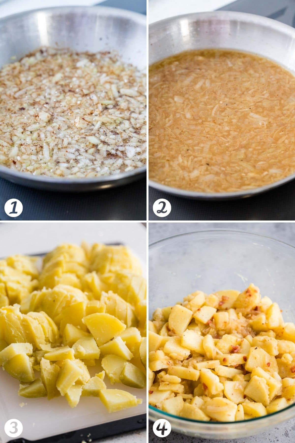 Steps for making German Potato Salad