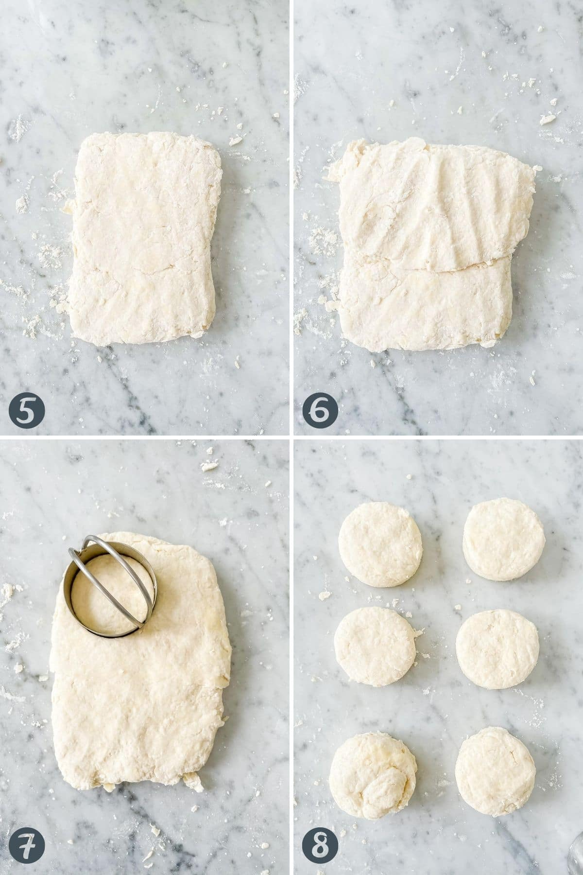 Collage on how to cut out biscuits